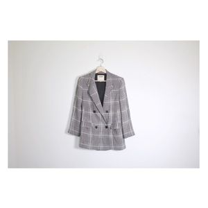 L'Agence taryn glen plaid silk blazer
